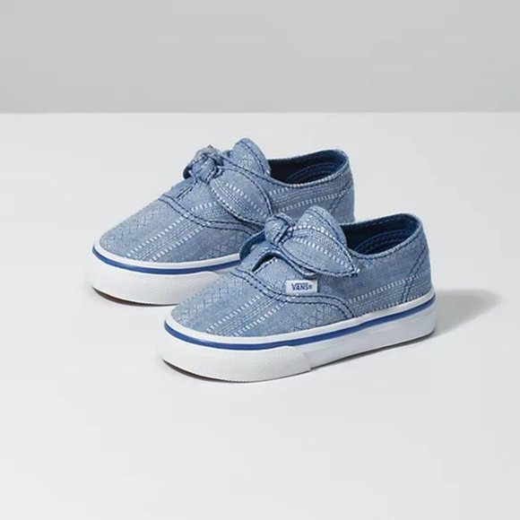 Vans Chambray Knotted Lace Sneakers